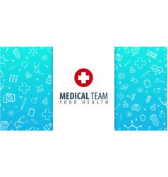 Medical team medical background health care vector