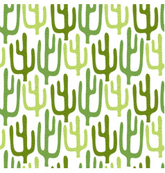Mexican cactus seamless pattern cartoon vector