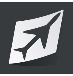 Monochrome plane sticker vector image vector image