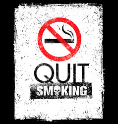 no smoking sign stop smoke symbol rough vector image