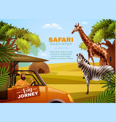 Safari colored poster vector