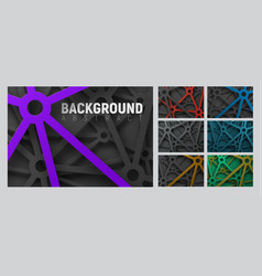 set of abstract background with cut lines with a vector image