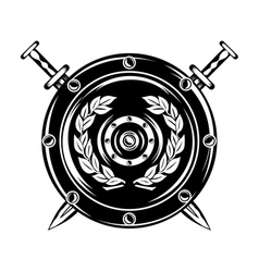 shield and crossed swords vector image vector image