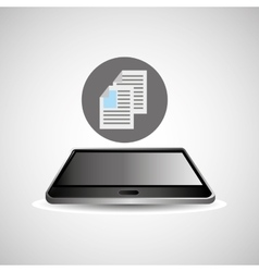 Smartphone black lying document business icon vector