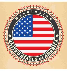 Vintage label cards of usa flag vector