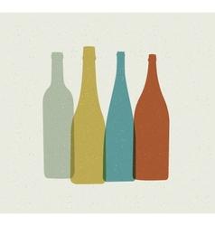 Bottle background retro poster vector