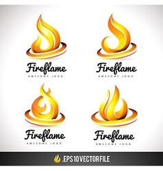 Fire logo icon flame design vector