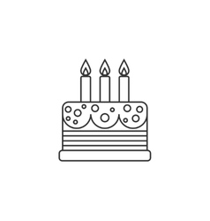 Cake thin line icon vector