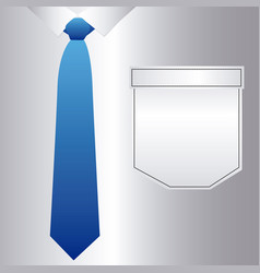 Elegant shirt with tie icon vector