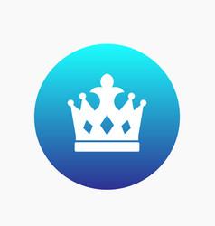 Crown icon monarch sign vector
