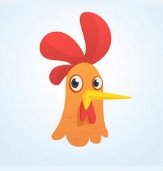 Cartoon cute rooster vector