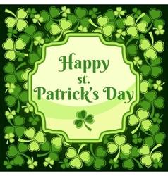 Saint Patricks Day Label vector image
