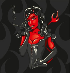 Devil woman vector