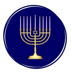 Golden Menorah with Candles vector image