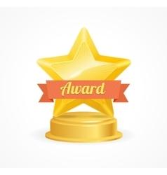 Gold star award vector