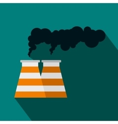 Smoking pipe icon in flat style vector