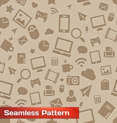 Seamless media pattern vector