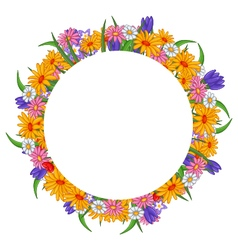 Banner with flowers frame vector