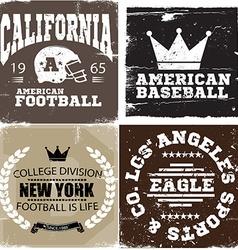 American baseball design vector image vector image