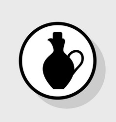 Amphora sign flat black icon vector