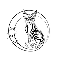 Artistic cat vector