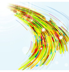 Bright abstract background with bent lines vector