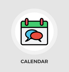 Calendar with chat vector