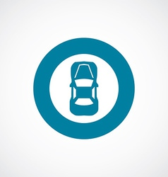 Car top icon bold blue circle border vector