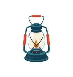 Cerosene glass lamp vector