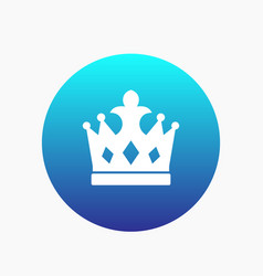 Crown icon monarch sign vector