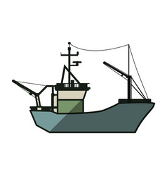 Fishing boat isolated vector