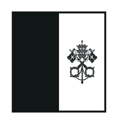Flag of Vatican monochrome on white background vector image vector image
