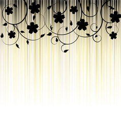 Floral Background ornament leaves vector image vector image