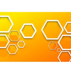Geometrical hexagon background template vector image