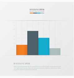 Graph and infographic design orange blue gray vector