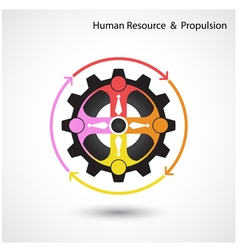 Human resource icon abstract logo design vector image vector image