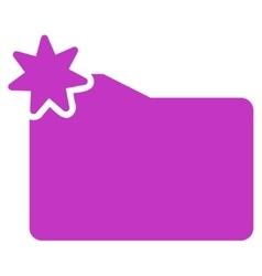 New folder icon vector