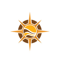 North star compass adventure logo vector