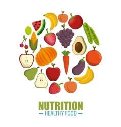 Nutrition healthy food concept vector