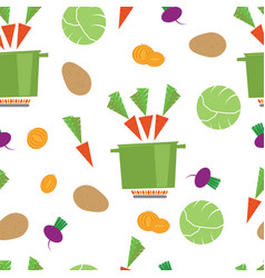 pattern kitchen vegetable casserole vector image
