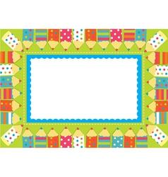 Pencil frame vector image
