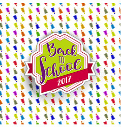 Retro back to school tag vector