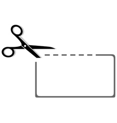 Scissors coupon and dotted line silhouette vector