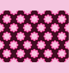 seamless floral pattern flowers with petals of vector image