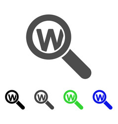 search word flat icon vector image vector image