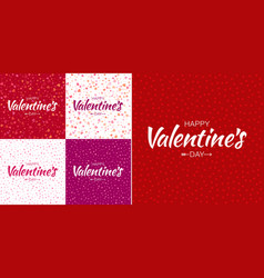 set of valentines day card backgrounds vector image vector image