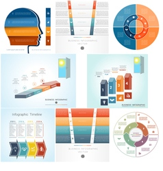 Set Templates Infographics positions 4 vector image vector image