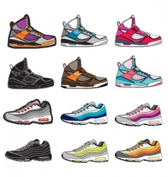 sneakers illustration vector image vector image