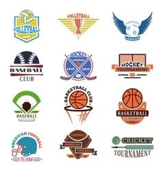 Sport team badge set vector image