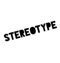 Stereotype rubber stamp vector